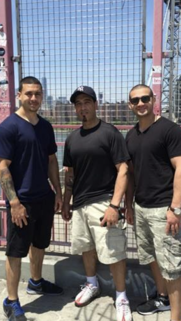 Photo of Luis Tejada with sons